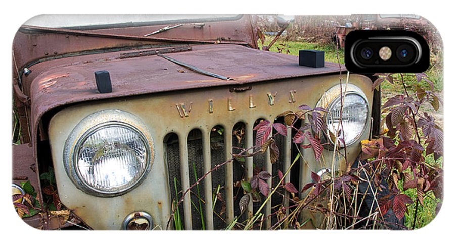 Willys Jeep IPhone X Case featuring the photograph The Jeepster by Neal Grillot