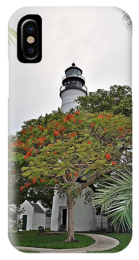 Key Wes IPhone X Case featuring the photograph The Key West Lighthouse by Bill Cannon