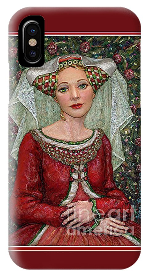 Occupy China IPhone X Case featuring the painting The Lady Mae  Bas Relief Miniature by Jane Bucci