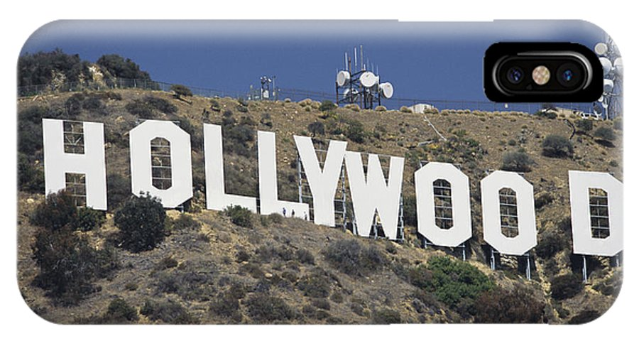North America IPhone X / XS Case featuring the photograph The Landmark Hollywood Sign by Richard Nowitz