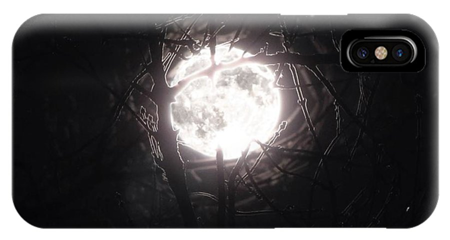 Night IPhone X Case featuring the photograph The Last Nights Moon by September Stone