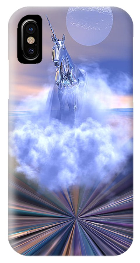 Bryce IPhone X Case featuring the digital art The Last Of The Unicorns by Claude McCoy