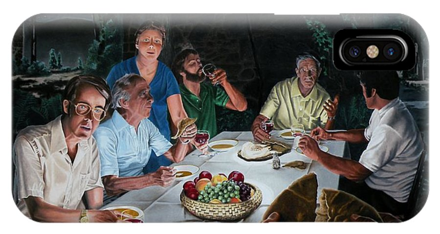 Last Supper IPhone Case featuring the painting The Last Supper by Dave Martsolf