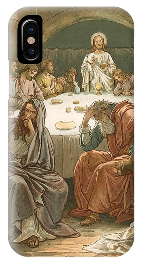 Bible; The Last Supper; Jesus Christ; Judas Isacariot; Breaking Bread; Wine IPhone X Case featuring the painting The Last Supper by John Lawson