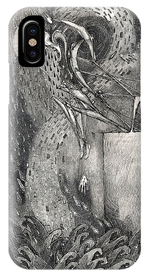 Leap IPhone Case featuring the drawing The Leap by Juel Grant