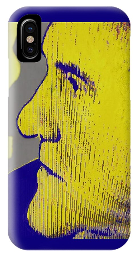 Portrait In Profile IPhone X Case featuring the photograph The Legendary Gerard Depardieu by Annick Portal