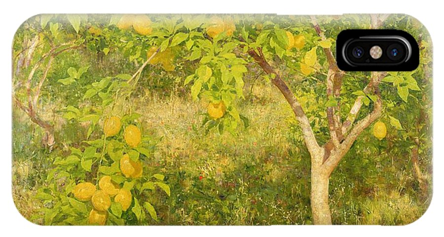 The IPhone X Case featuring the painting The Lemon Tree by Henry Scott Tuke