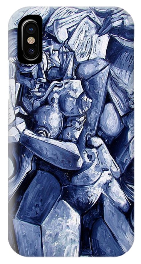 Surrealism IPhone X Case featuring the painting The Letters by Darwin Leon
