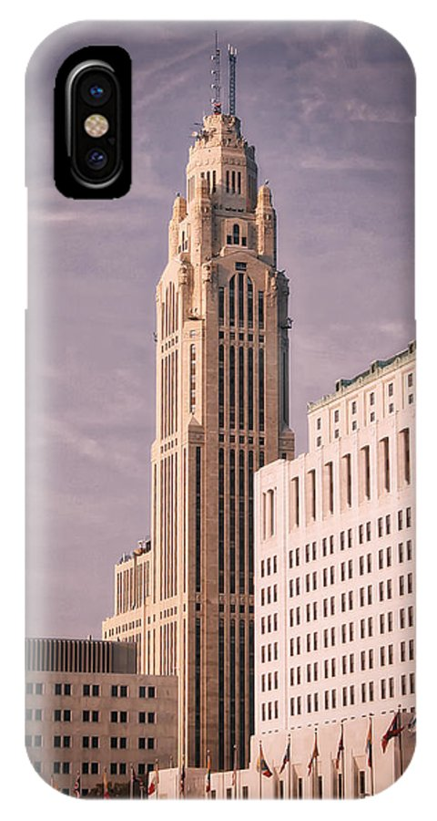 Leveque Tower IPhone X Case featuring the photograph The Leveque Tower Of Columbus Ohio by Mountain Dreams