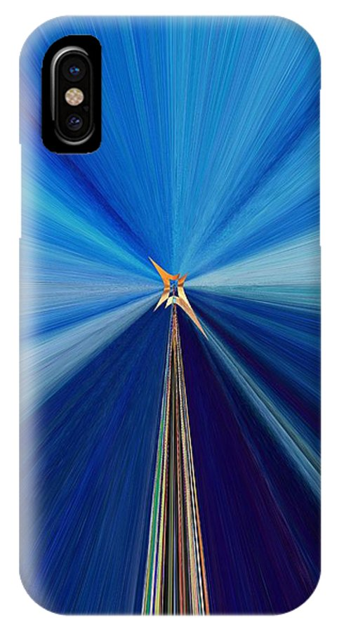 Abstract IPhone X Case featuring the digital art The Light Fantastic Speedway by Tim Allen