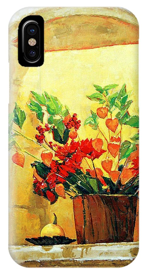 Still Life IPhone X Case featuring the painting The Light by Iliyan Bozhanov
