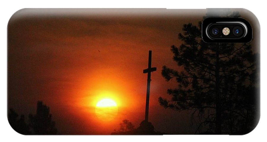 Sun IPhone X Case featuring the photograph The Light In The Dark by Roxanne Basford