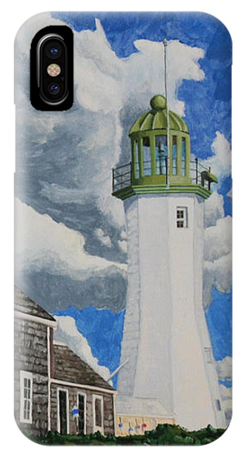 Lighthouse IPhone Case featuring the painting The Light Keeper's House by Dominic White