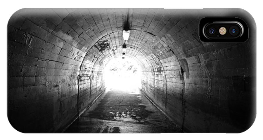 Black IPhone X Case featuring the photograph The Light by Pamela Newcomb
