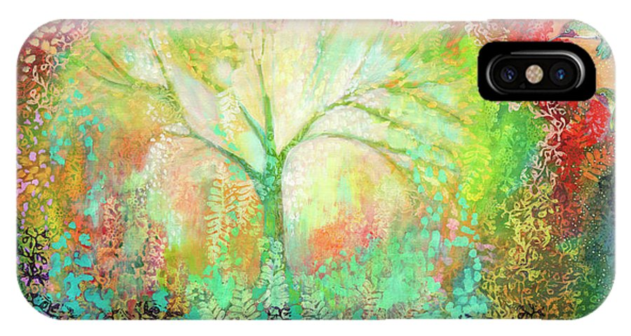 Tree IPhone X Case featuring the painting The Light Within by Jennifer Lommers