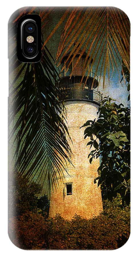Lighthouse IPhone X Case featuring the photograph The Lighthouse In Key West by Susanne Van Hulst
