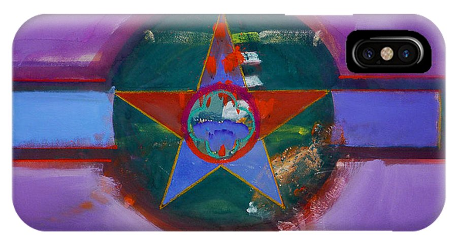 Star IPhone X Case featuring the painting The Lighthouse Keeper by Charles Stuart