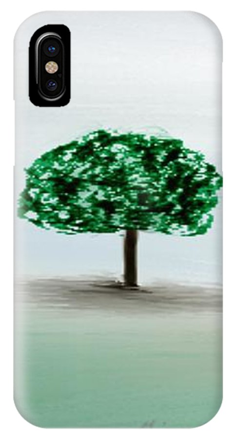 Custom IPhone X Case featuring the painting The Lone Tree by Gina Lee Manley
