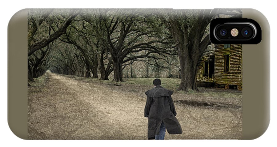Oad IPhone X Case featuring the photograph The Long Road Home by Mitch Spence