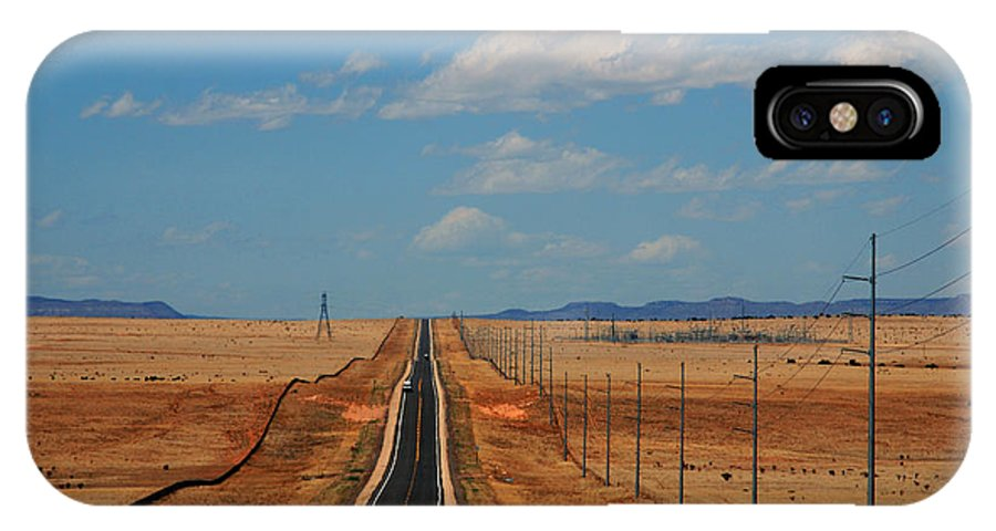 Long Road IPhone X Case featuring the photograph The Long Road To Santa Fe by Susanne Van Hulst