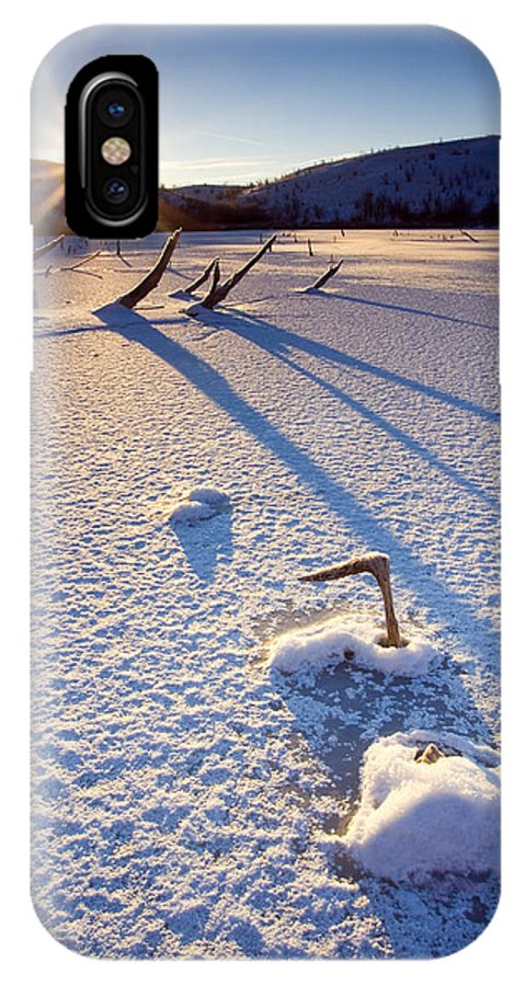 Sunrise IPhone Case featuring the photograph The Long Shadows Of Winter by Mike Dawson