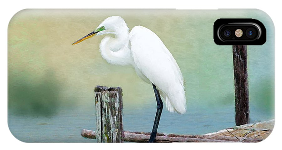 Great Egret IPhone X Case featuring the photograph The Lookout by Betty LaRue