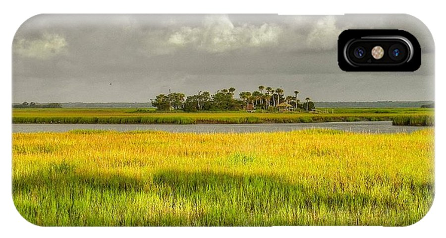 Marsh IPhone X Case featuring the photograph The Lovely Low Country by Patricia Greer