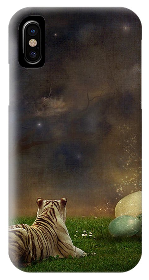 Tiger IPhone X Case featuring the photograph The Magical Of Life by Martine Roch