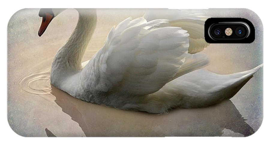 Swan IPhone X Case featuring the photograph The Magical Swan by Bob Christopher
