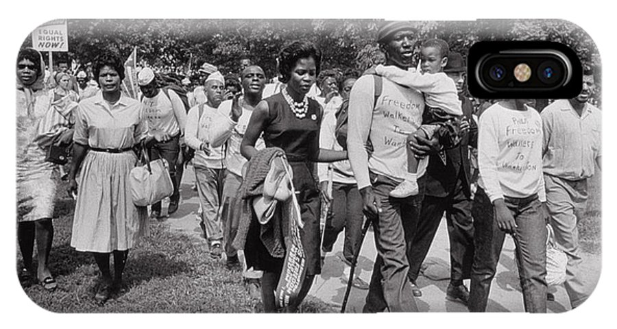 Photo IPhone X Case featuring the photograph The March On Washington Freedom Walkers by Nat Herz