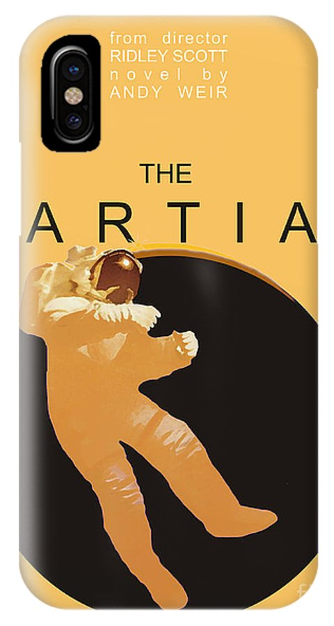 The Martian IPhone X Case featuring the digital art The Martian by Priscilla Wolfe