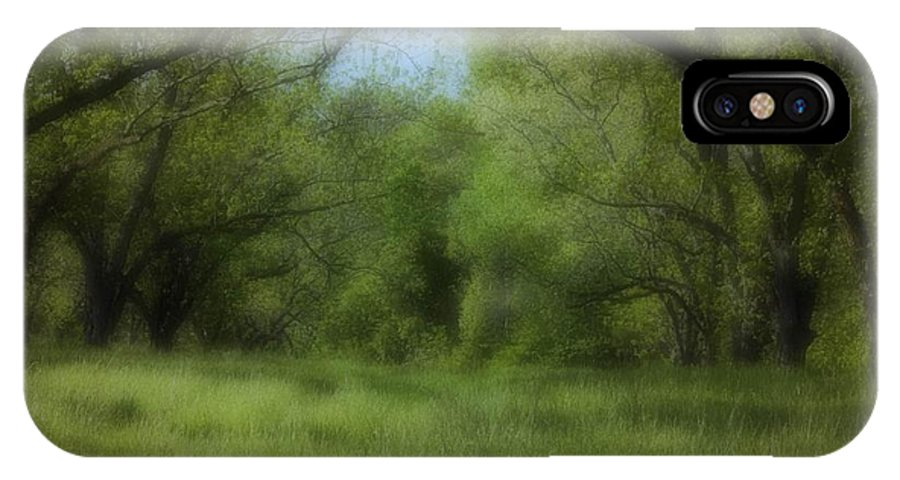 Landscape IPhone X Case featuring the photograph The Meadow by Ayesha Lakes