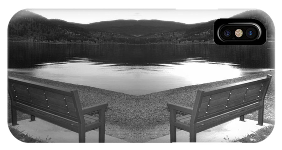 Benches IPhone X Case featuring the photograph The Meeting Place by Tiffany Vest