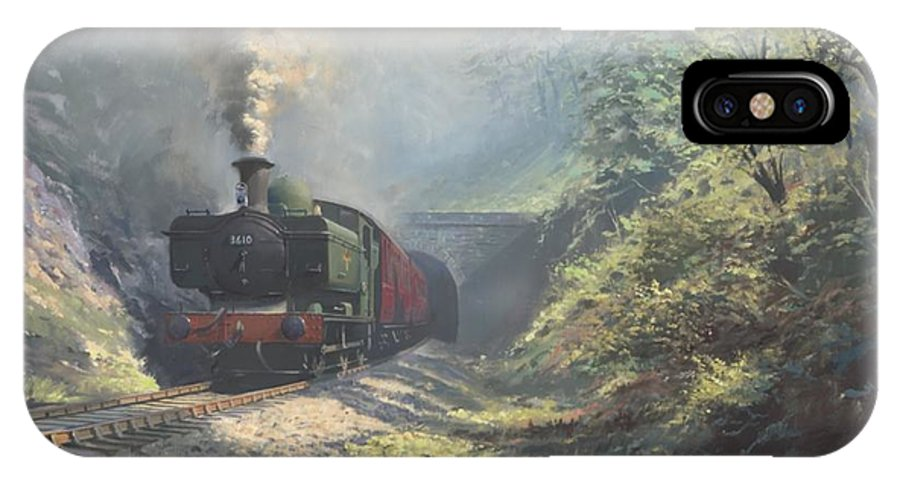 Steam IPhone X Case featuring the painting The Merthyr Tunnel by Richard Picton