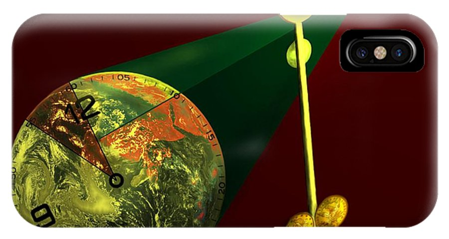 Earth IPhone Case featuring the digital art The Metronome by Helmut Rottler