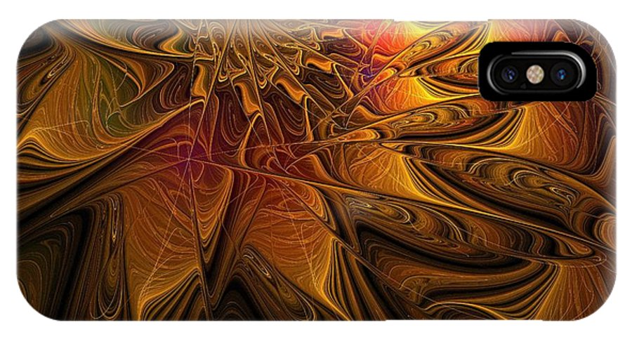 Digital Art IPhone Case featuring the digital art The Midas Touch by Amanda Moore