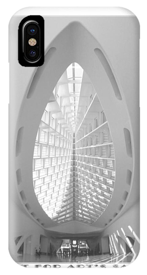 Milwaukee IPhone X / XS Case featuring the photograph The Milwaukee Art Museum II by Mike McGlothlen