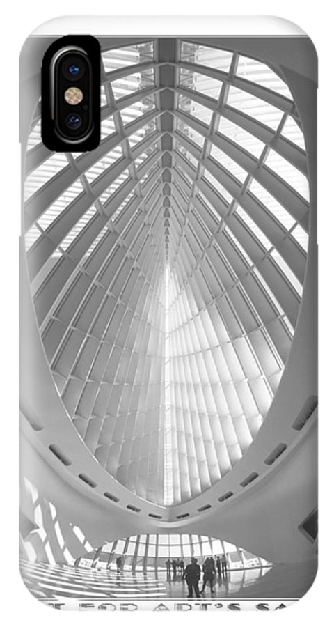 Unusual Architecture IPhone X / XS Case featuring the photograph The Milwaukee Art Museum by Mike McGlothlen