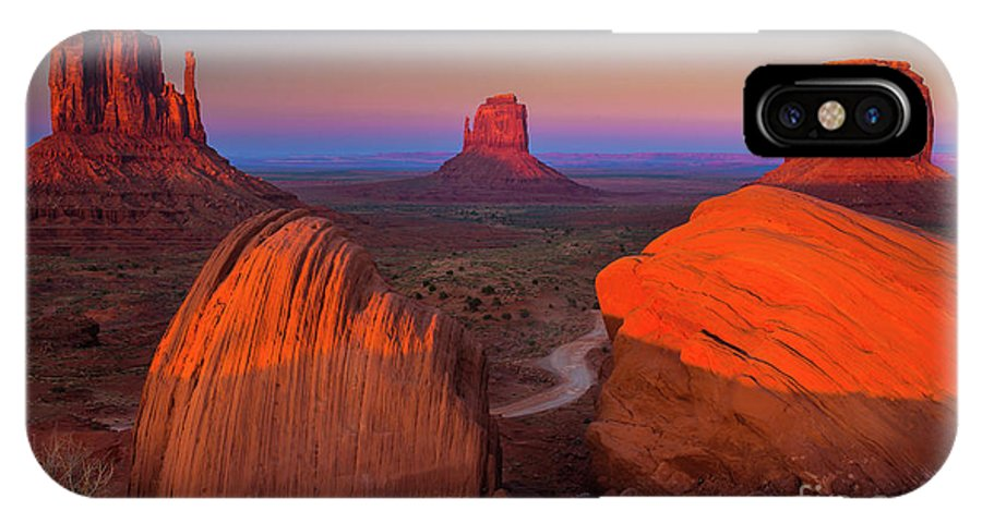 America IPhone X Case featuring the photograph The Mittens by Inge Johnsson