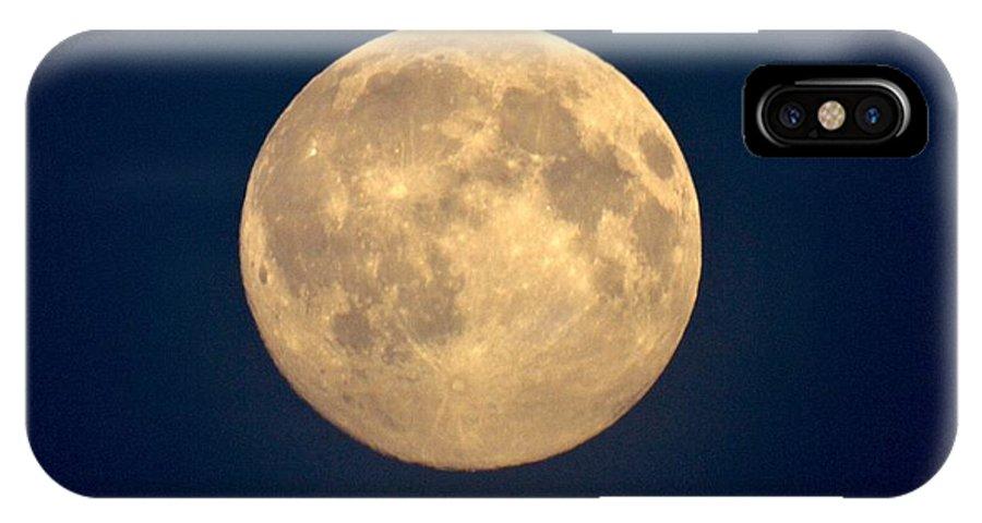 Lehtokukka IPhone X / XS Case featuring the photograph The Moon 1 by Jouko Lehto