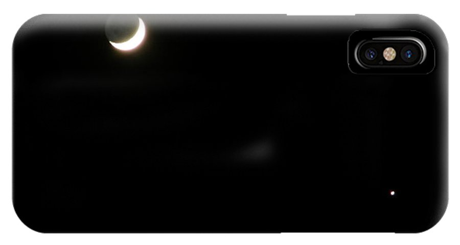 Moon IPhone Case featuring the photograph The Moon And Stars by Gale Cochran-Smith