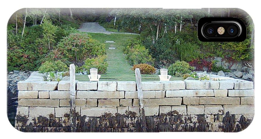 Granite IPhone X Case featuring the photograph The Moon Garden by Faith Harron Boudreau