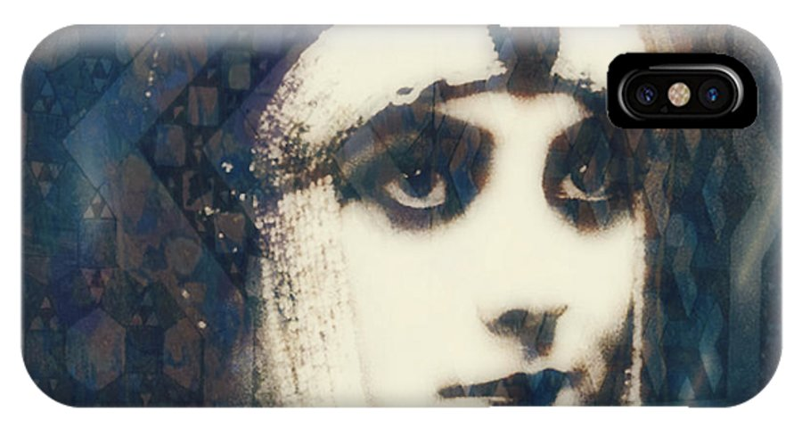 Theda Bara IPhone X Case featuring the digital art The More I See You , The More I Want You by Paul Lovering