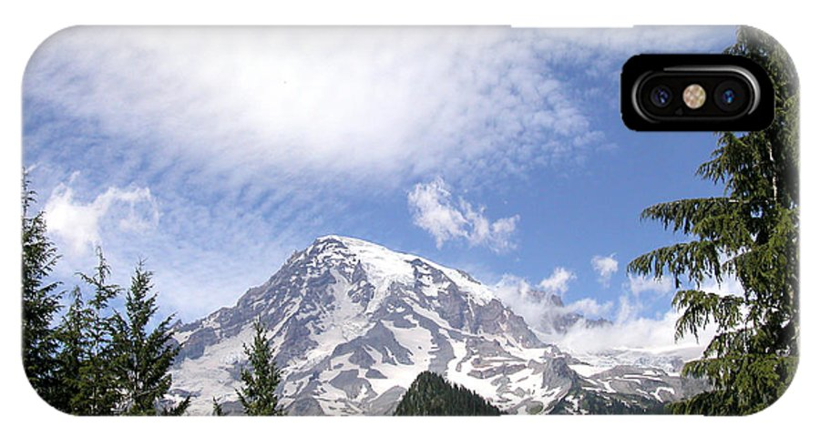 Mountain IPhone X Case featuring the photograph The Mountain Mt Rainier Washington by Michael Bessler