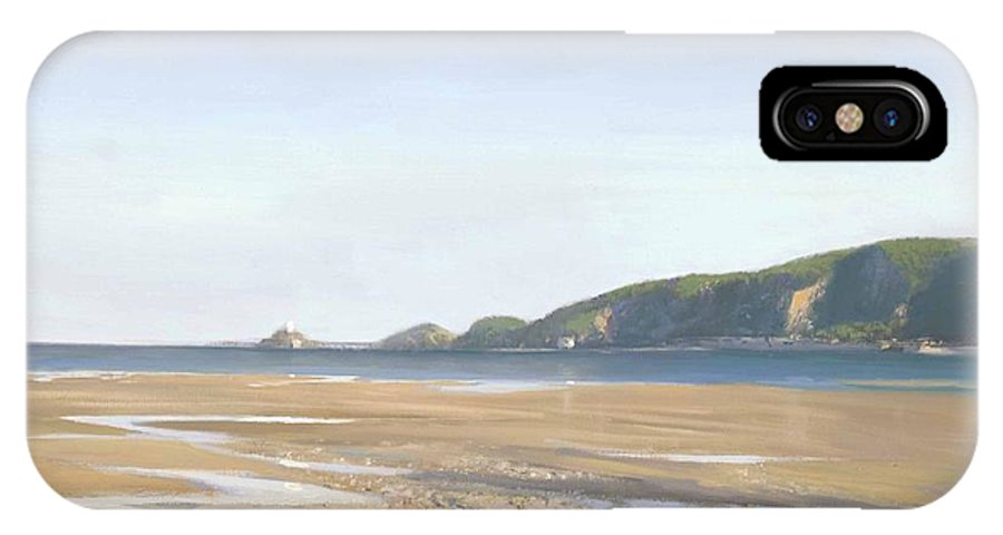 Landscape IPhone X Case featuring the painting The Mumbles  Swansea by Richard Picton