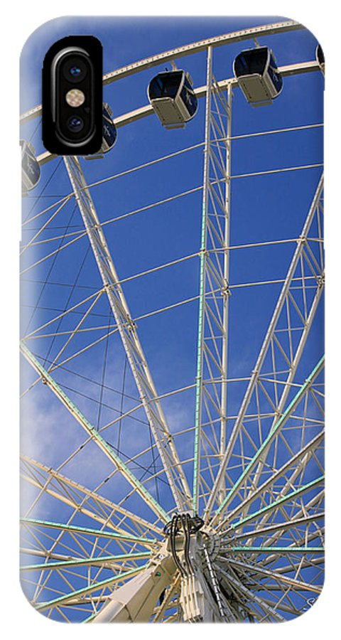 Sky Wheel IPhone X Case featuring the photograph The Myrtle Beach Sky Wheel by Suzanne Gaff
