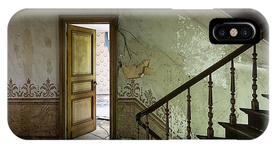 Castle IPhone X Case featuring the photograph The Mystery Room - Urban Decay by Dirk Ercken