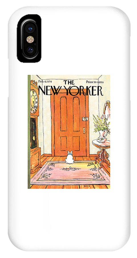 Animal IPhone X Case featuring the photograph The Long Wait by George Booth