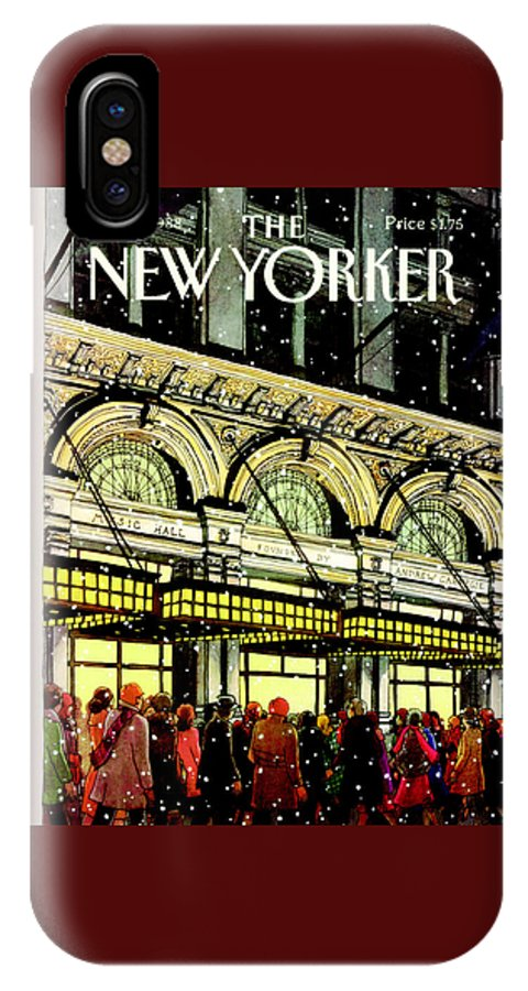Urban IPhone X Case featuring the painting The New Yorker Cover - January 18th, 1988 by Roxie Munro