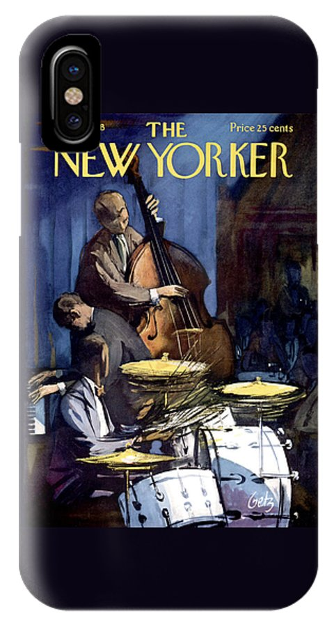 Concert IPhone X Case featuring the photograph The New Yorker Cover - January 4th, 1958 by Arthur Getz